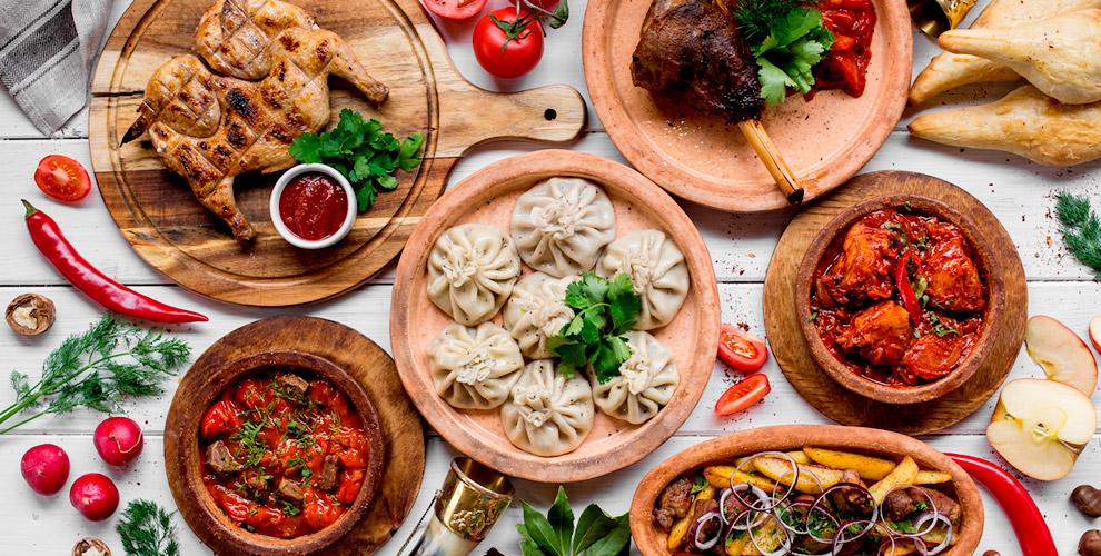 Меню кухни и напитки в грузинском ресторане «Гогиели»