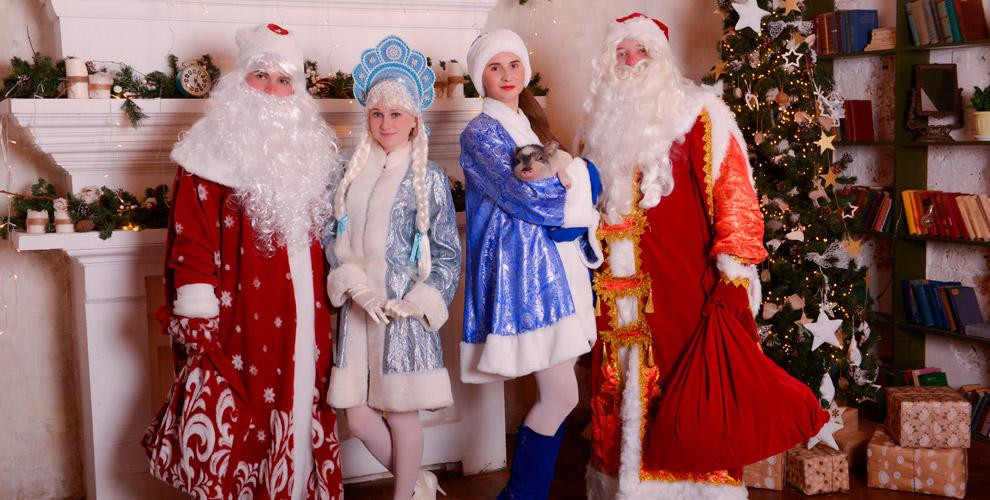 Поздравление Деда Мороза иСнегурочки, новогодняя программа дляшкол идетских садов