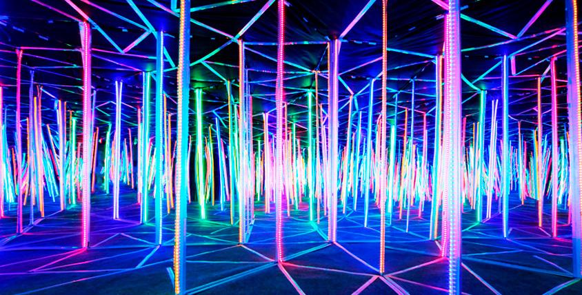 Посещение аттракционов Sky Maze
