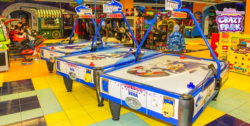 Посещение детской зоны и тайм-карта на развлечения в сети семейных центров Crazy Park