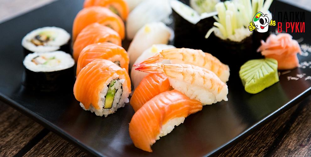 Служба доставки «Палки вРуки»: сеты, роллы, суши, хосомаки, Wok-лапша