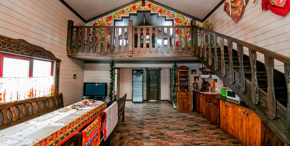 Посещение русской бани надровах в«Лесном острове»