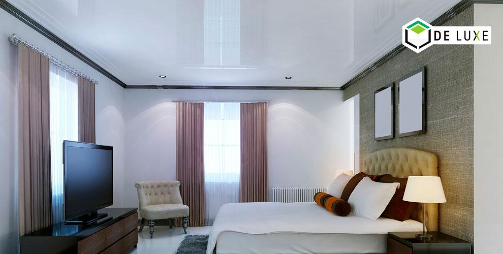 Матовые и сатиновые натяжные потолки для больших помещений от компании De Luxe