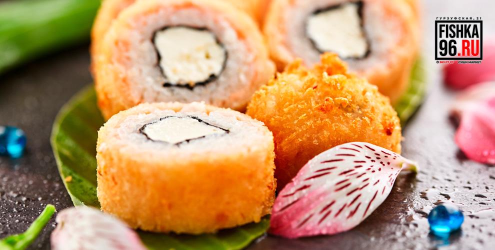 Роллы, суши, наборы, салаты, супы и другие блюда от суши-маркета «Японская Fishka»