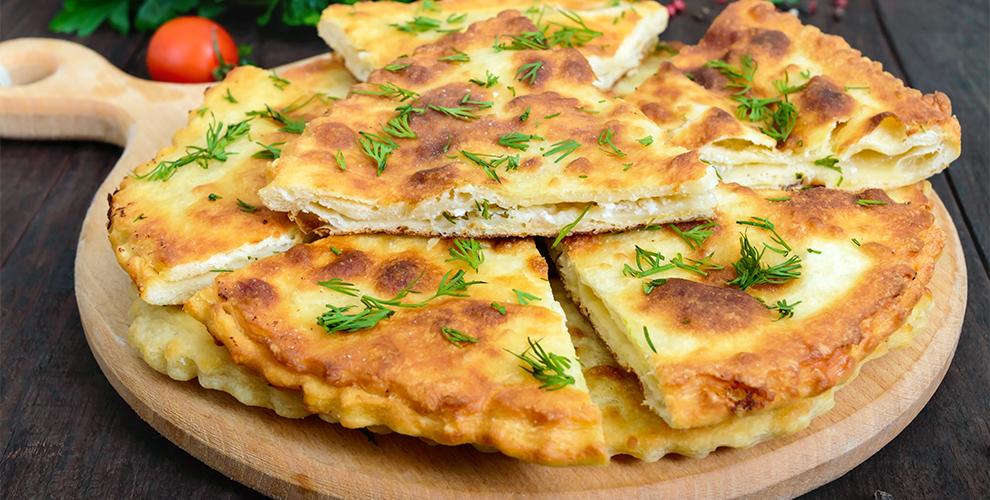 Меню осетинских пирогов и пиццы в пекарне «Осетия»