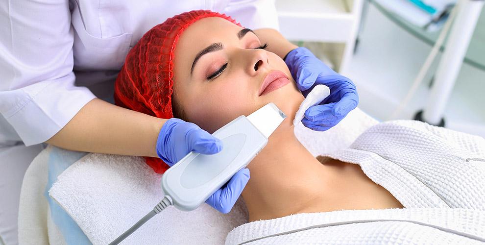 Скульптурный массаж, голливудская чистка лица, УЗ-чистка в салоне красоты Beauty Line