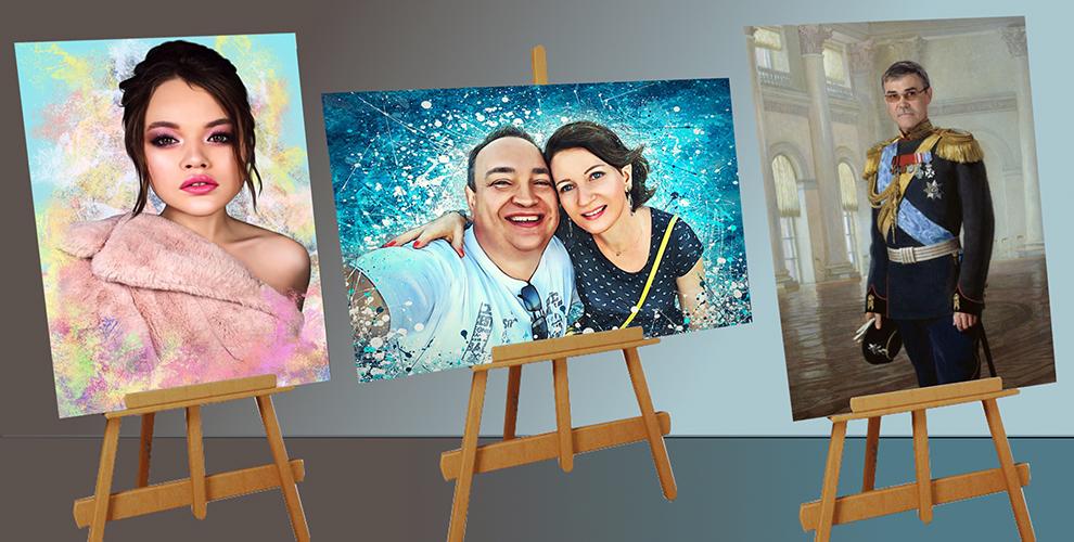 Студия портретов на холстах ARTсolors: портреты в стиле «Дрим-арт», «Любовь это..»