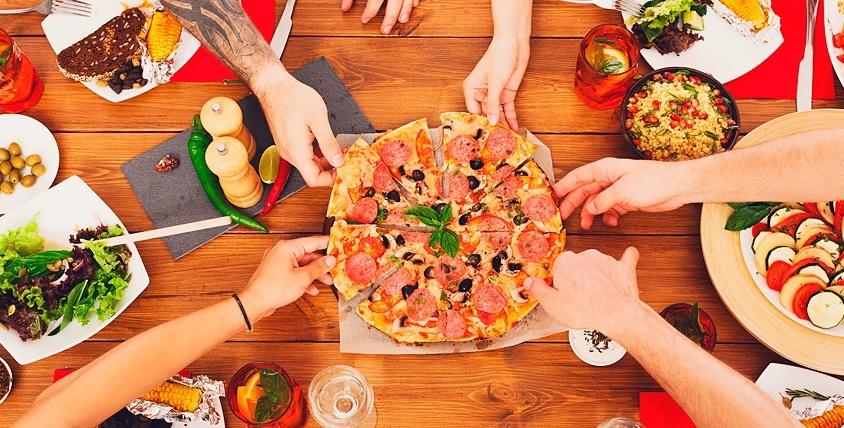 """WOK-лапша, пицца с 3 начинками на выбор от службы доставки """"WOK-пицца Happy time"""""""