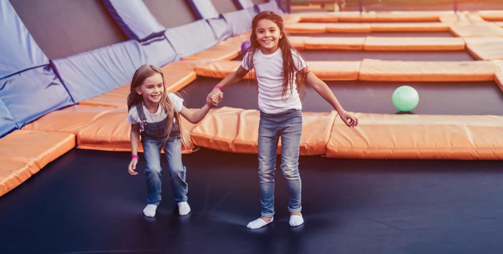 Посещение батутного парка «База Героев» для детей и взрослых