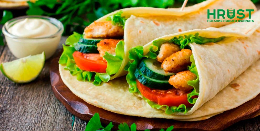 HRUST: шаурма, хот-доги, сосиски в тесте и самса