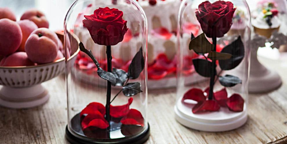 Роза в колбе «Красавица и чудовище» от интернет-магазина White Rabbit
