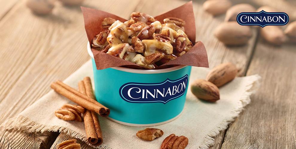 Пеканбон, шокобон, микс-ролл и другие лакомства в сети кафе-пекарен Cinnabon