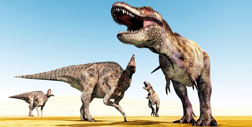 """Выставка """"Динозал"""" приглашает прогуляться с обитателями Ледникового периода. Яркие сцены из жизни динозавров перед глазами!"""