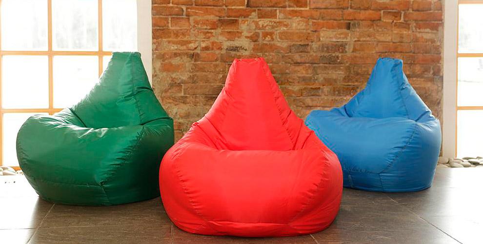 """Бескаркасные кресло-мешки от фабрики мебели """"ПОЗИТИВ"""""""