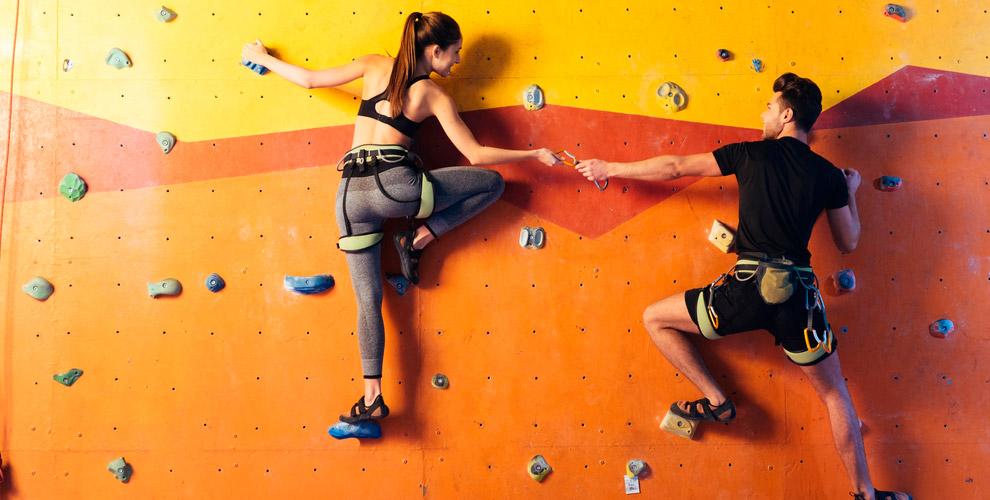 Групповые занятия по скалолазанию на скалодроме «Каньон»