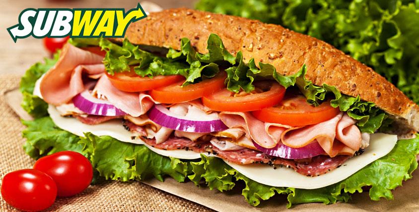 Всемирно известные сэндвичи, роллы, начинки, салаты и напитки за полцены в ресторане SUBWAY