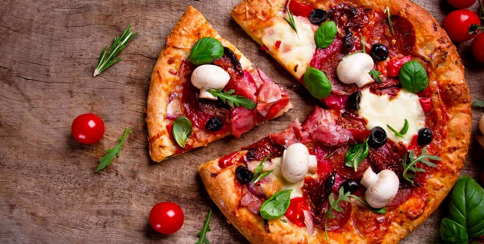 Пицца, роллы, бургеры, горячие блюда, десерты и напитки от службы доставки TaxoLunch