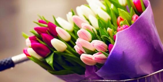 """Лилии, альстромерии, тюльпаны, ирисы, розы и огромный выбор пышных букетов от салона цветов """"БУКЕТ'ON"""""""