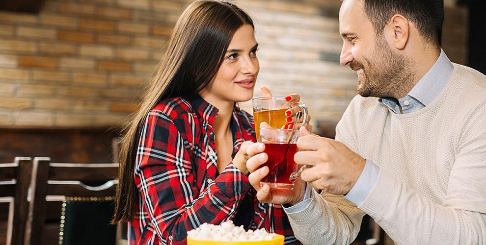 Чай на выбор и меню по акции в заведении «Дымный БиZон»