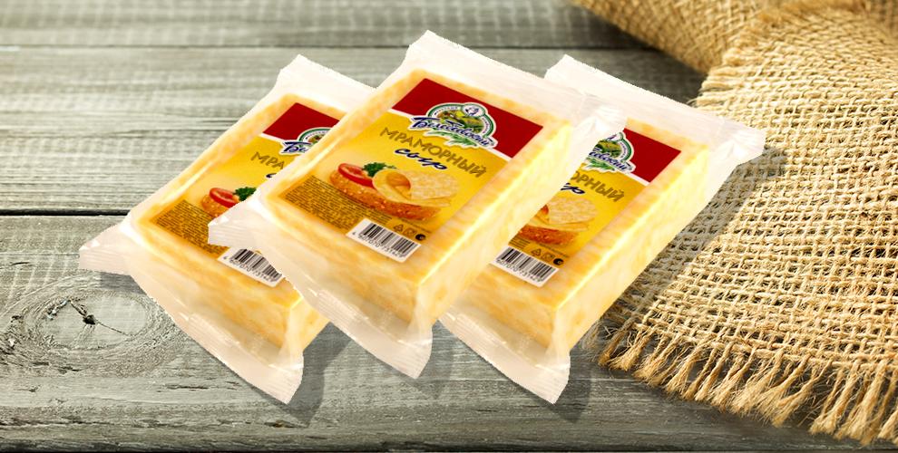 Набор из 3 упаковок сыра «Мраморный» от сети магазинов «Петрович»