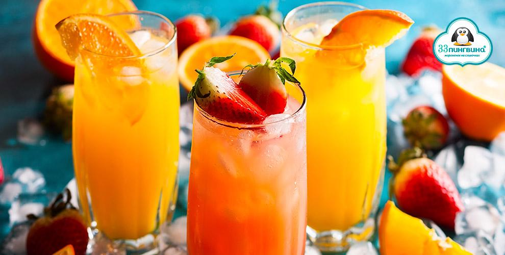 Разнообразные летние лимонады откафе-мороженого «33Пингвина»