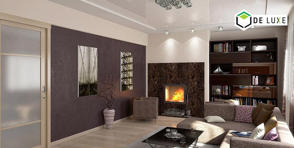 Натяжные потолки шириной 5,5 м и морозостойкие полотна от компании De Luxe