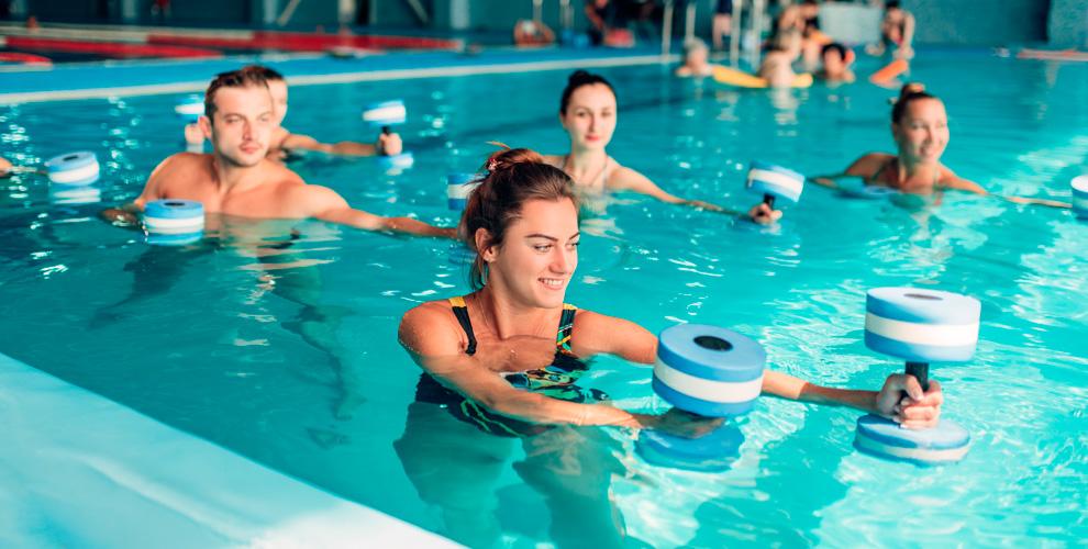 Занятия фитнесом иаквааэробикой вклубе «Фит-Олимп» вСК«Олимпийский»