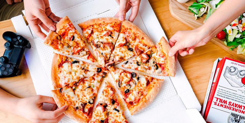 «Папа Джонс»: более 20 видов пиццы любого диаметра с доставкой и в заведении