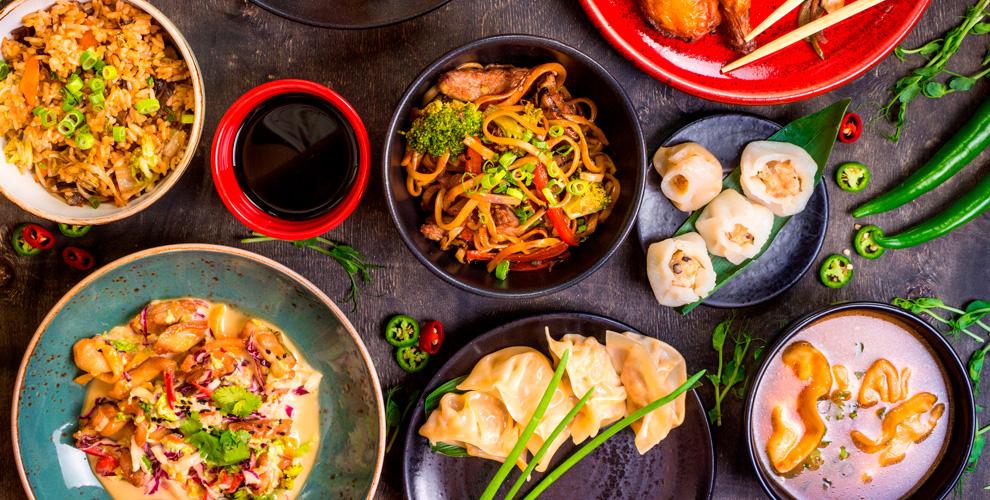 Меню китайской кухни отфуд-корта Kong FuвТЦ«Гринвич»