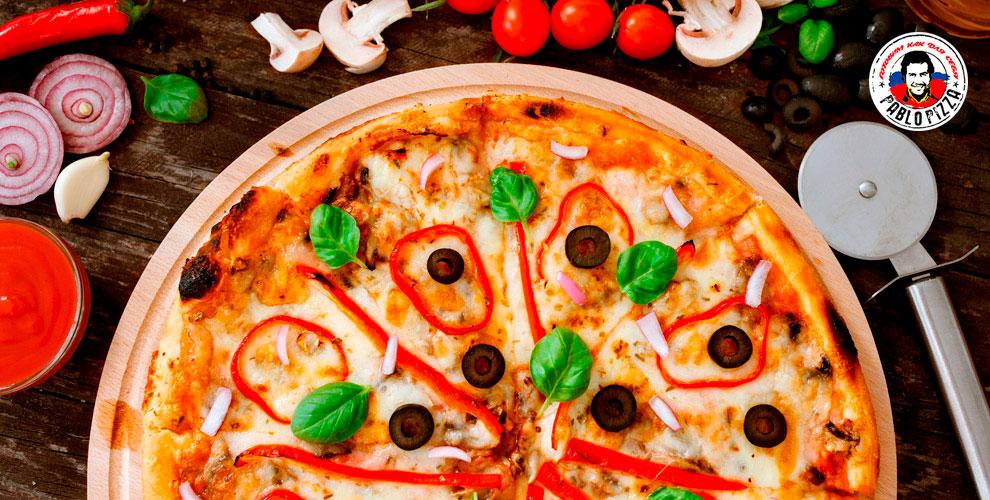 Разнообразное меню пиццы диаметром 30смоткомпании Pablo Pizza