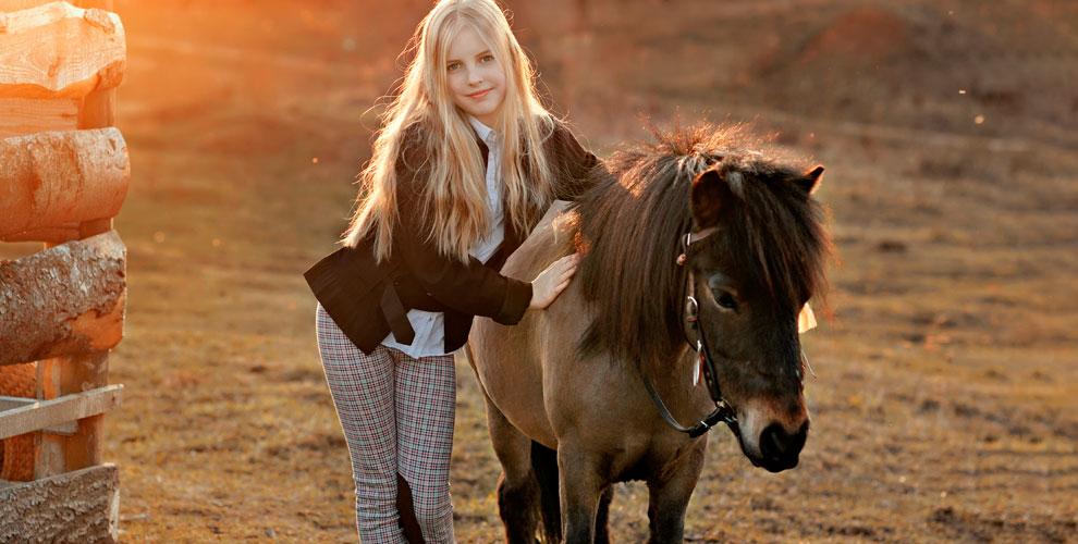 Конная прогулка на пони для детей от частного клуба «Пони»