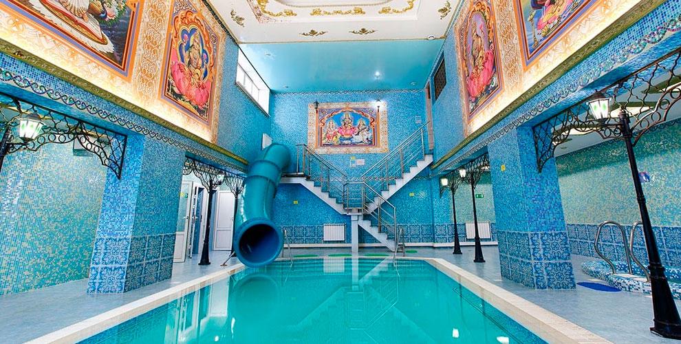Финская парная, турецкий хамам, бассейн, джакузи ибильярд вкомплексе «Водный Рай»