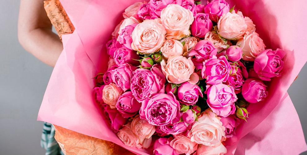 Разнообразные цветы ибукеты откомпании ChelSuavite