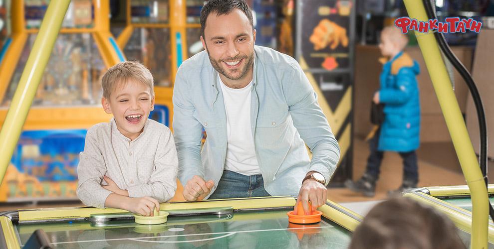 Игровая и тайм-карта в развлекательном парке «Фанки Таун»