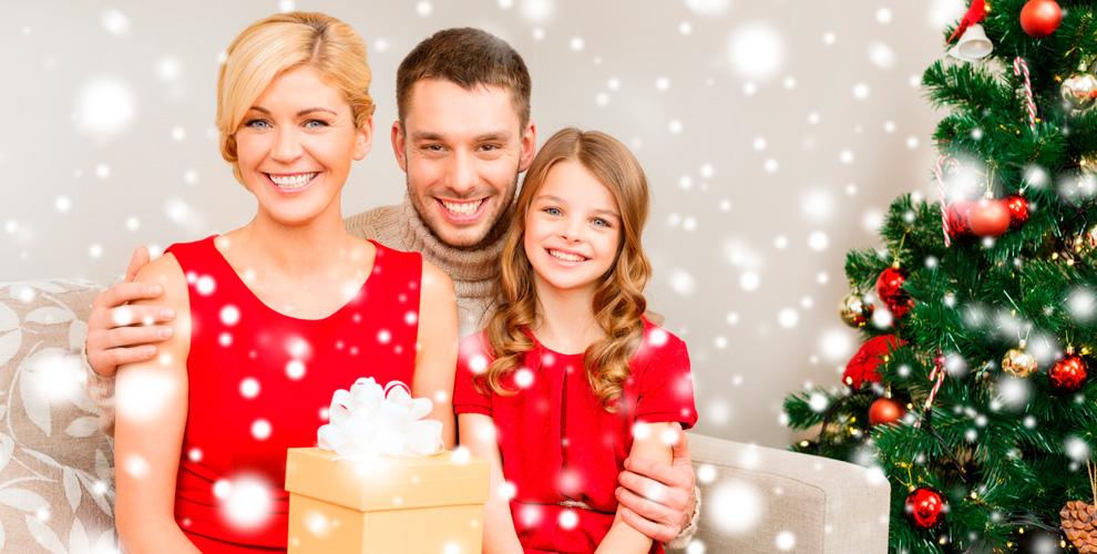 Новогодняя, «Вожидании чуда», семейная фотосессии откомпании VSENAPHOTO