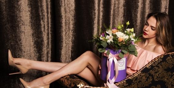 """Когда не нужны слова! Синие ирисы, розы Эквадор, лилии и шикарные букеты от цветочной лавки """"Лавандыш"""""""