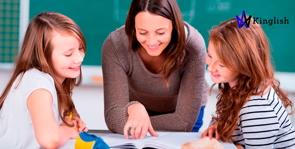 Занятия английским языком длявзрослых идетей вшколе иностранных языков Kinglish