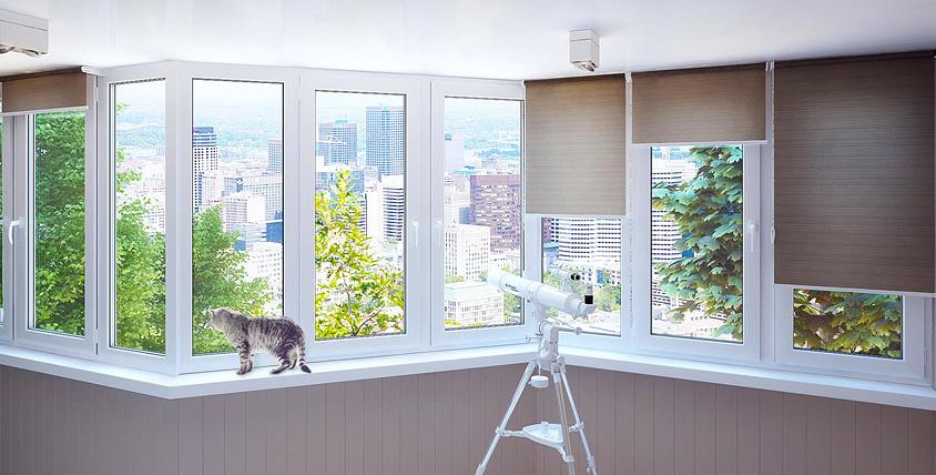 """ПВХ окна и остекление балкона-лоджии от компании """"Галерея окон"""""""