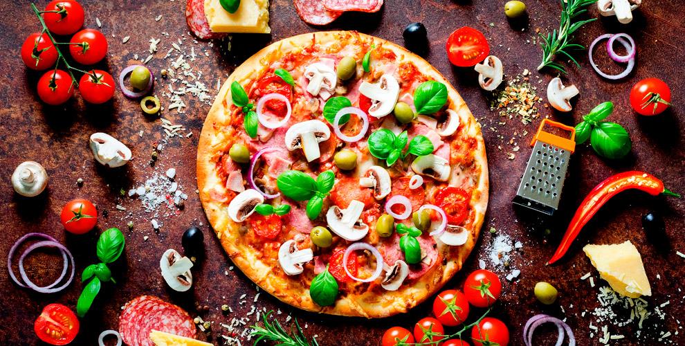 Разнообразное меню пиццы и пирогов в пиццерии «Дигория»