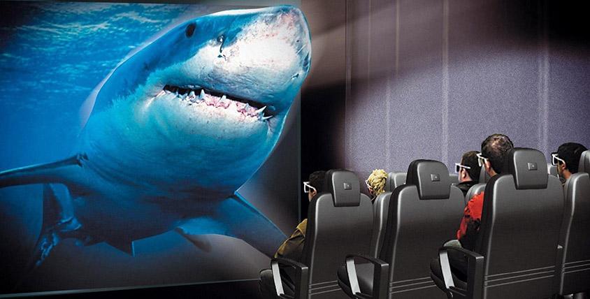 Сеансы в 5D-кинотеатр: трехмерное изображение, динамичная платформа, мощный звук