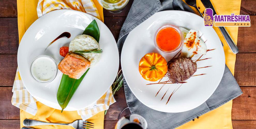 Ресторан «В шоколаде» в Matrёshka Plaza: меню основной и японской кухни