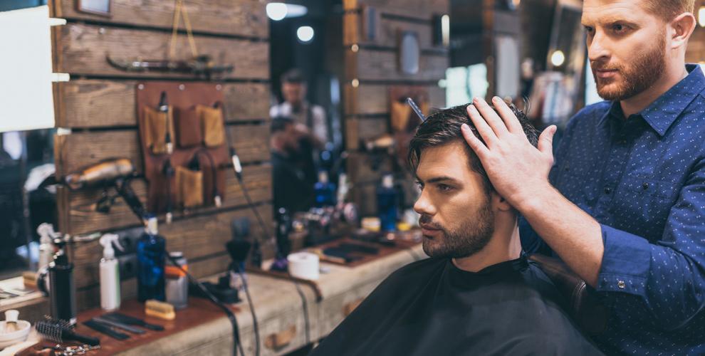 Мужская стрижка имоделирование бороды вбарбершопе Élcaminó delhombre barbería