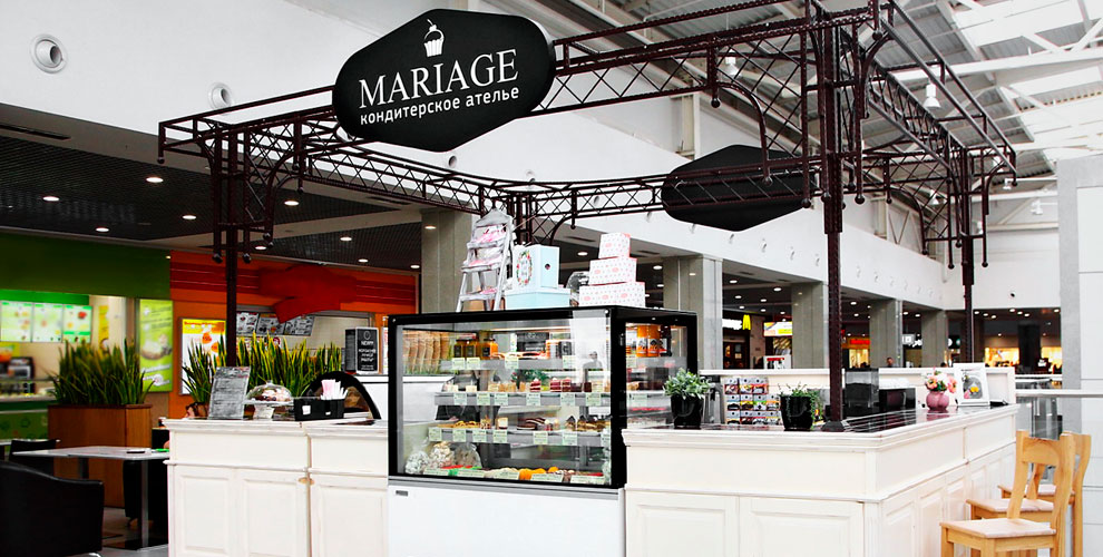 Мороженое, десерты икофе всети кондитерских ателье Mariage