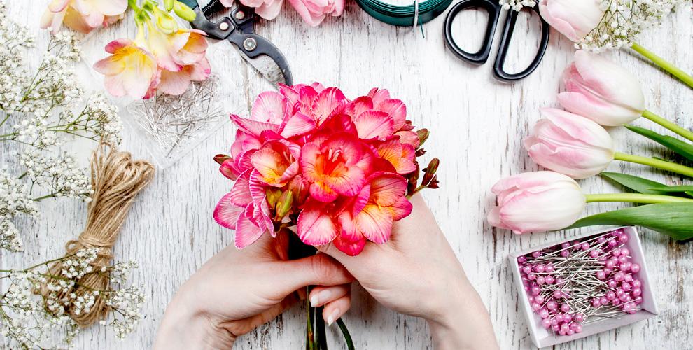 Мастер-классы по созданию цветочной композиции и по валянию от Шоурума Polli Home
