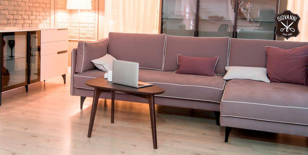 Перетяжка домашней мягкой мебели откомпании Giovanni