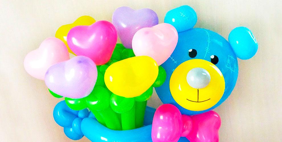 Композиции из шаров к 8 марта от мастерской воздушных шаров «ЧУДЕСНАЯ ЛАВКА»