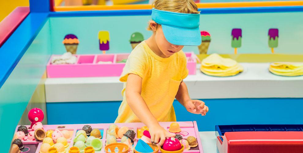 Посещение сети детских игровых площадок «Киндервиль»
