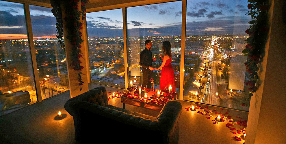 Уютное романтическое свидание на крыше и розыгрыш от организации «Лучший подарок»