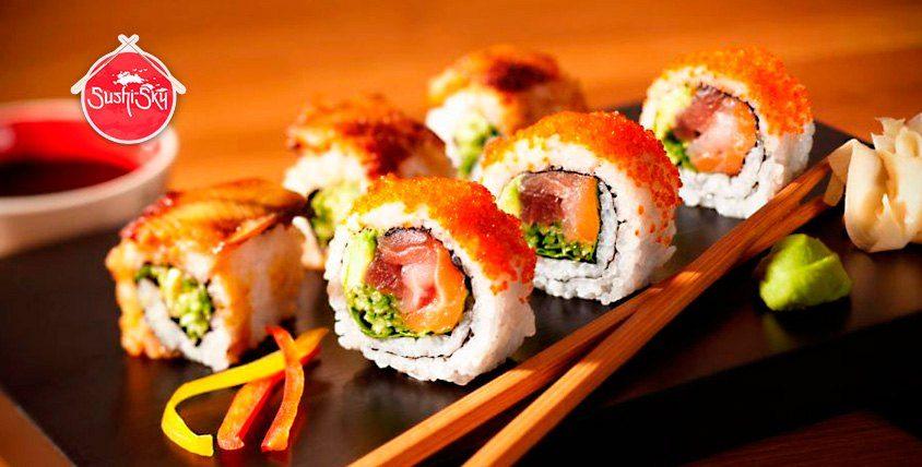 Роллы, наборы и суши по вкусным ценам от ресторана доставки Sushi-sky