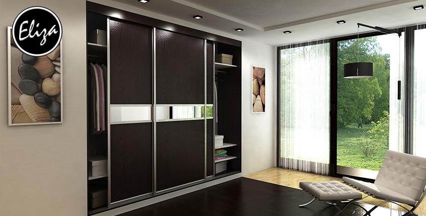 Встроенные шкафы-купе по индивидуальным размерам от мебельной фабрики Eliza